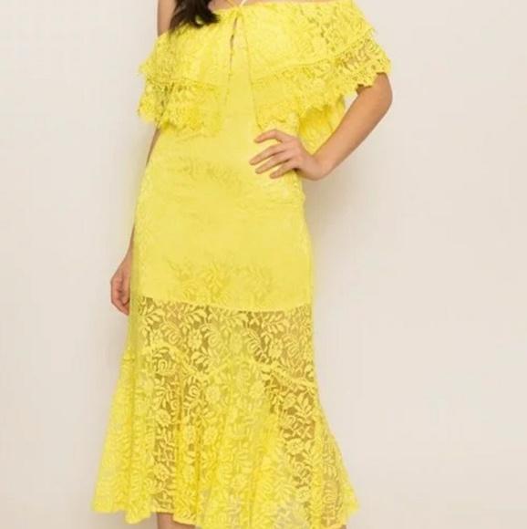 Latiste Midi Lace Dress Boutique